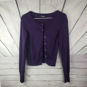 EXPRESS | Purple cardigan size XS